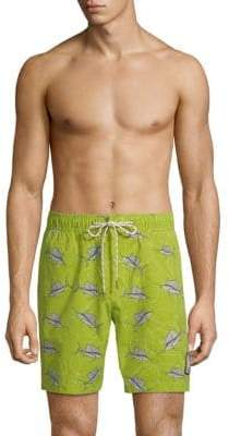 Reyn Spooner Printed Drawstring Swim Shorts