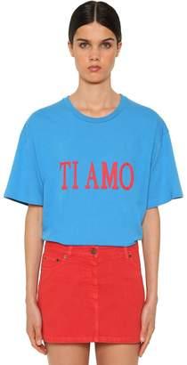 Alberta Ferretti Ti Amo Oversized Cotton Jersey T-Shirt