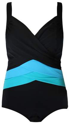 Poolproof Cross Front V Neck One Piece