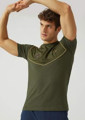 Emporio Armani Ea7 T-Shirt In Stretch Cotton