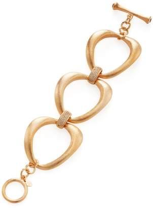 Rivka Friedman Women's Alternating Satin Circle Link Station Bracelet