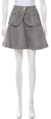 Sacai Herringbone Mini Skirt