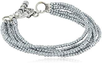 King Baby Studio Heartbreaker Eight Strand Hematite Bead Mini Toggle Clasp Bracelet