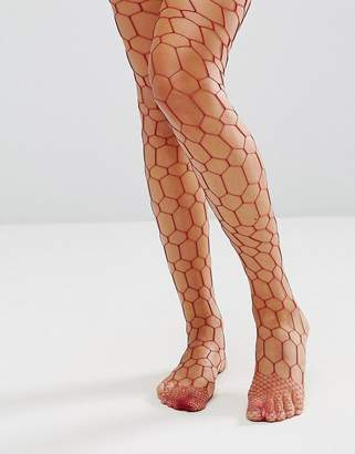 Asos DESIGN Hexagon Fishnet