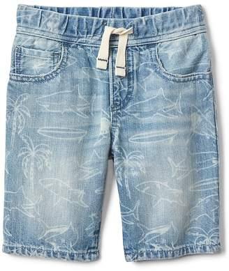 Gap Shark Print Pull-On Shorts