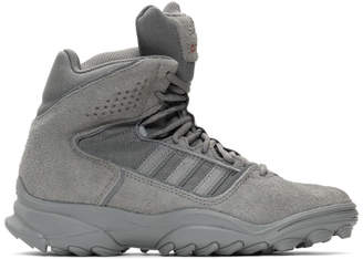 032c Grey adidas Originals Edition Suede GSG-9 High-Top Sneakers
