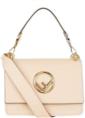 Fendi Leather Kan I Shoulder Bag