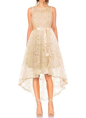 KT SUPPLY Women's Vintage Floral Lace Sleeveless Hi-Lo Cocktail Bridesmaid Formal Party Dress XS