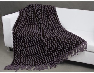 Chic Home Vivien Two Tone Chenille finished Acrylic throw blanket