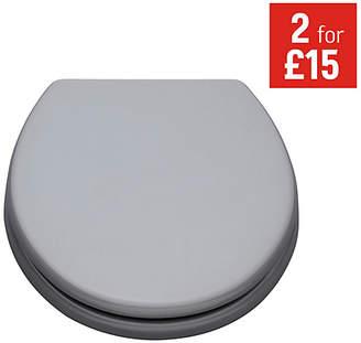 ColourMatch Moulded Wood Toilet Seat - Flint Grey