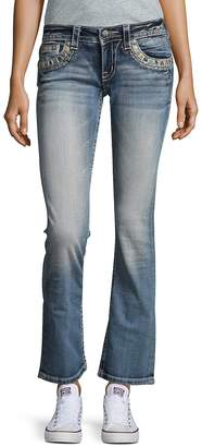 Miss Me Women's Embellished Flared Denim Jeans