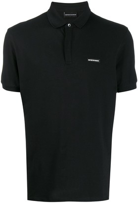 Emporio Armani patch detail polo shirt