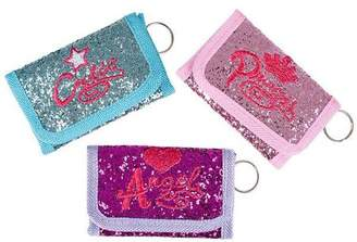 """DollarItemDirect 4.25"""" x2.5"""" GLITTER WALLET WITH SAYINGS, Case of 288"""