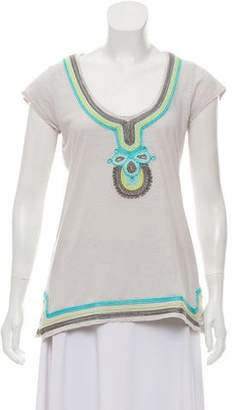 Calypso Embroidered Short-Sleeve T-Shirt
