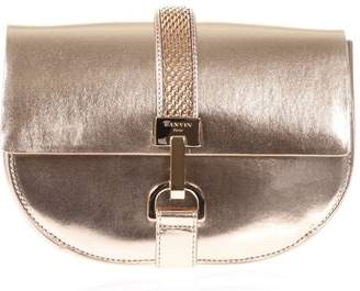 Lanvin Lien Rose Metallic Leather Shoulder Bag