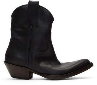 Maison Margiela Black Santiag Boots
