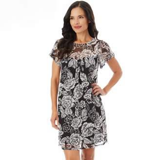 Apt. 9 Women's Printed Mesh Swing Dress