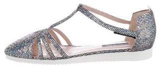 Sarah Jessica Parker Meteor Glitter T-Strap Flats w/ Tags