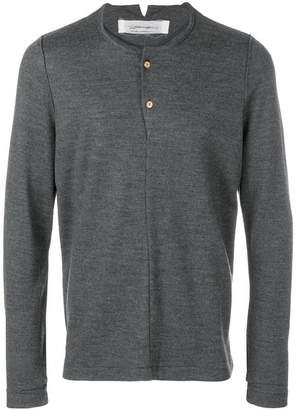Individual Sentiments button placket jumper