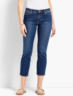 Talbots Denim Straight Leg Crop - Decker Wash