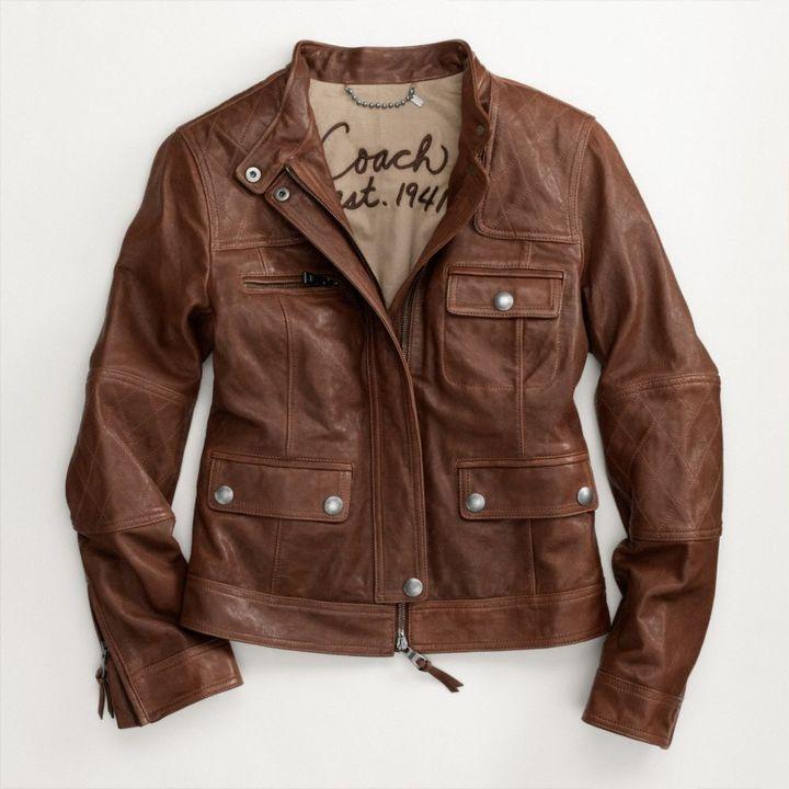 Coach Madison Leather Jacket