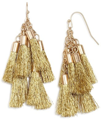 AQUA Katie Multi Tassel Drop Earrings - 100% Exclusive $28 thestylecure.com