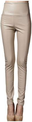 Lotsyle Thick High Waist Faux Leather Leggings Women Leather Pants- XL
