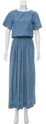 Chloé Cape Accented Maxi Dress