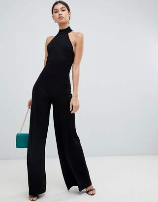 Asos Design DESIGN halter neck jumpsuit