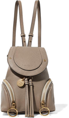 See by Chloe Olga Small Textured-leather Backpack - Gray