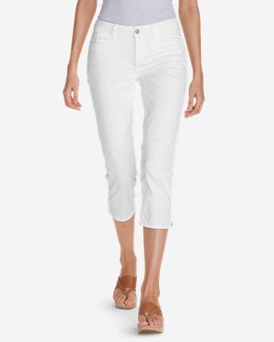 Eddie BauerWomen's Curvy Crop Jeans - White