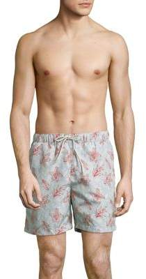 Selected Floral-Mix Swim Trunks