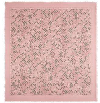 Gucci Arabesque print modal silk shawl