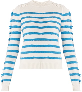 BARRIE Breton-striped cashmere sweater