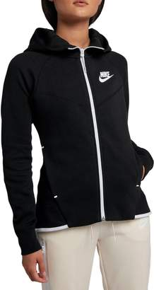Nike Tech Full-Zip Fleece Cotton Blend Hoodie