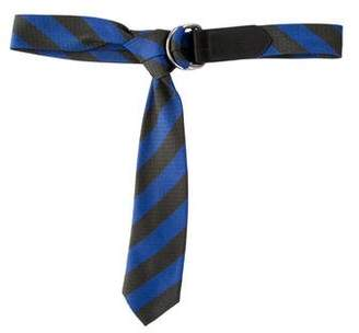 Dries Van Noten Striped Tie Belt