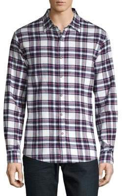 Black & Brown Black Brown Plaid Button-Down Shirt