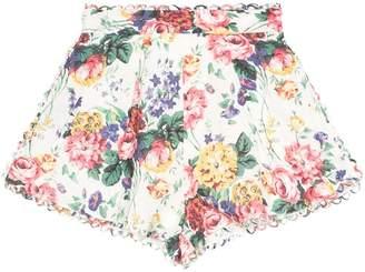 Zimmermann Allia floral print shorts