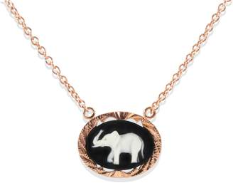 Lucky Elephant Vintouch Italy Cameo Necklace