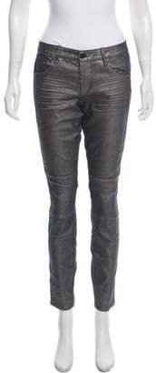 Marc by Marc Jacobs Metallic Mid-Rise Skinny Jeans w/ Tags
