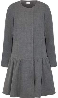 Milly Fluted Wool-Blend Twill Coat