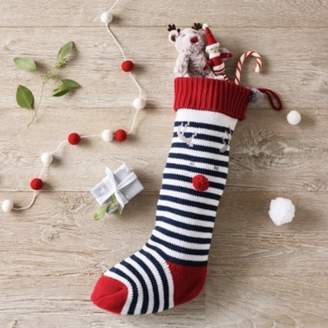 The White Company Jingles Knitted Stocking, Blue, One Size