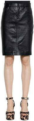 Jeremy Scott Leather Pencil Skirt