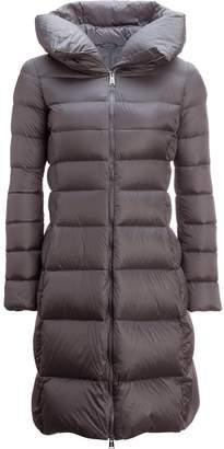 ADD White Goose Long Down Hooded Coat - Women's