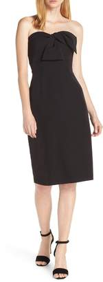 Sam Edelman Strapless Bow Detail Sheath Dress
