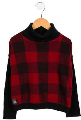 Polo Ralph Lauren Girls' Checked Turtleneck Sweater
