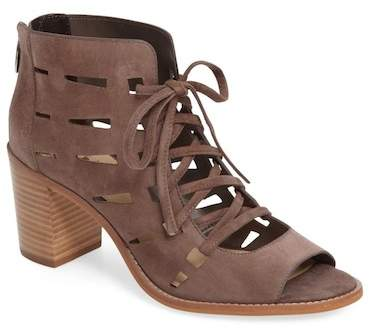 Vince Camuto Tressa Perforated Leather Block Heel Sandal - Wide Width Available