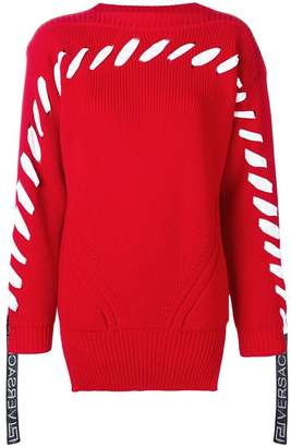Versace lace-up detailed sweater