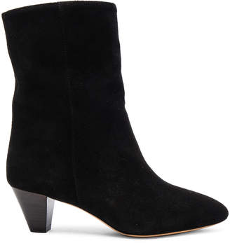 Isabel Marant Etoile Dyna New Velvet Booties $530 thestylecure.com