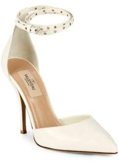 Valentino Grommet Detail Point Toe Pumps